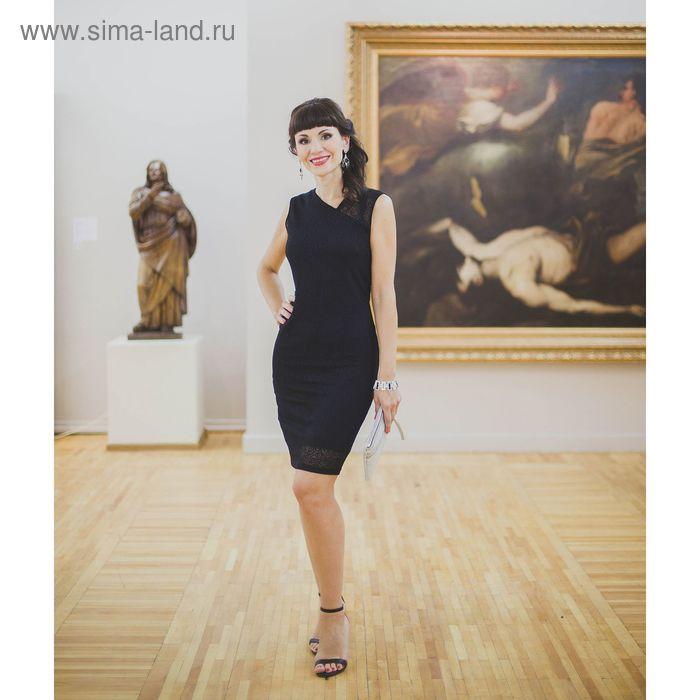 Платье женское 4501, размер 42, рост 164 см, цвет черный