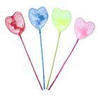 Сачок детский, бамбуковая ручка 61 см, d=22 см, в форме сердца, цвета МИКС