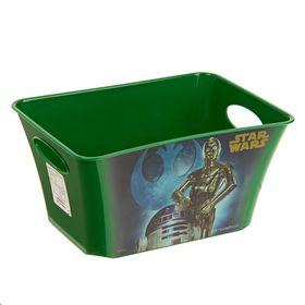 Корзина для игрушек 'Звёздные войны' 1,5 л, цвет зелёный Ош