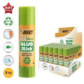 Клей-карандаш, прозрачный, твёрдый, 8 г, BIC Glue Stick, ECOlutions