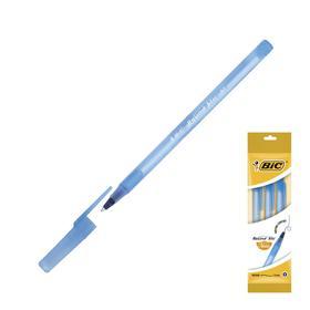 Ручка шариковая, синяя, среднее письмо, BIC Round Stic Classic