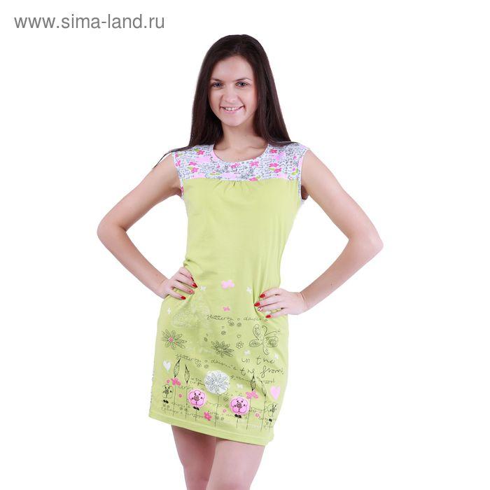 """Сорочка женская ночная """"Цветочные мотивы"""" Р307352, рост 158-164 см, р-р 44"""