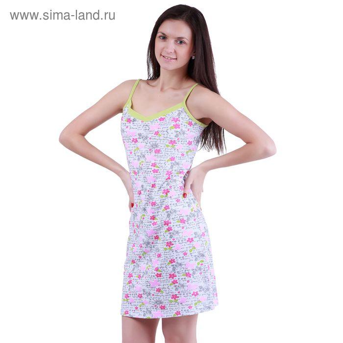 """Сорочка женская ночная """"Цветочные мотивы"""" Р307353, рост 158-164 см, р-р 48"""