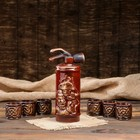 "Набор для вина ""Огнетушитель"", 7 предметов: штоф 0.8 л, рюмки 0.1 л - фото 689631"