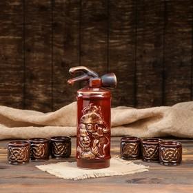 """Набор для вина """"Огнетушитель"""", 7 предметов: штоф 0.8 л, рюмки 0.1 л"""
