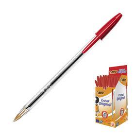 Ручка шариковая BIC Cristal, чернила красные, узел 1.0мм, одноразовая Ош