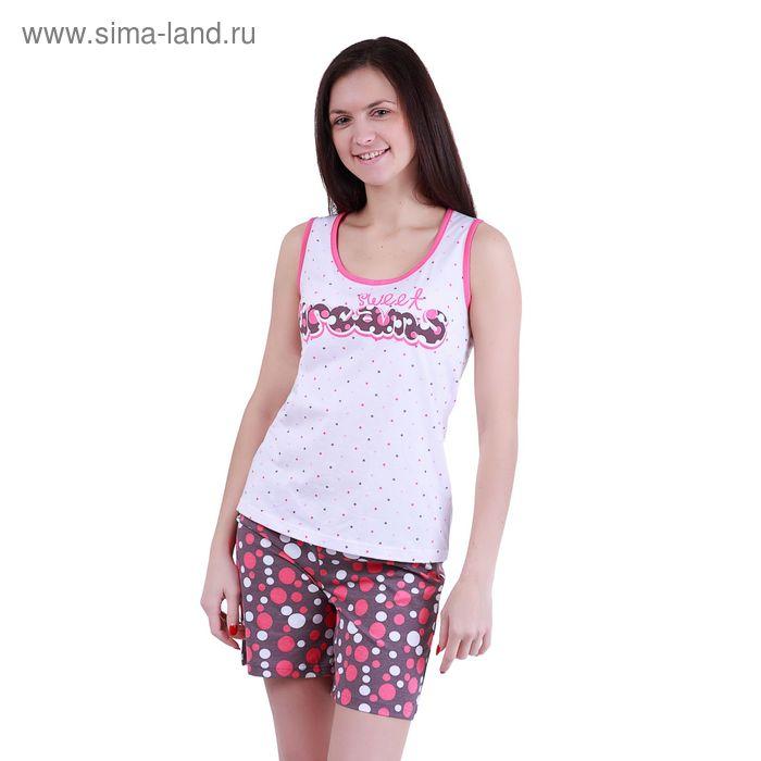 """Пижама женская """"Цветные сны"""" (майка, шорты), рост 158-164 см, р-р 50"""