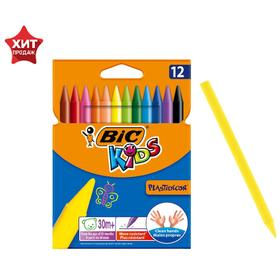 Мелки пластиковые 12 цветов BIC Kids Plasttidecor