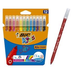 Фломастеры 12 цветов BIC Kids Kid couleur, МИКС
