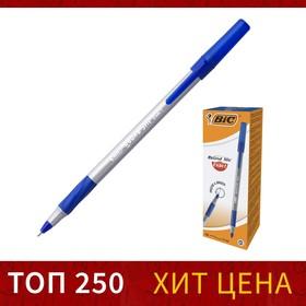 Ручка шариковая BIC Round Stic Exact, чернила синие, узел 0.7мм, одноразовая Ош