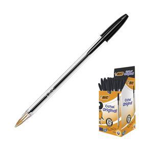 Ручка шариковая BIC Cristal, чернила черные, узел 1.0мм, одноразовая Ош