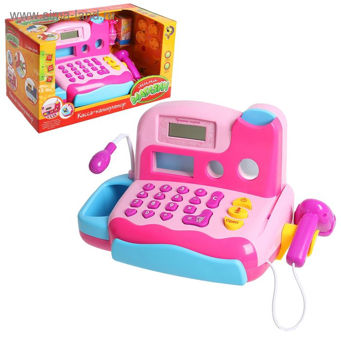 """Касса-калькулятор """"Любимые покупки-1"""", световые и звуковые эффекты, работает от батареек"""