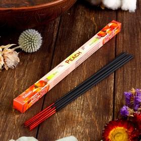 """Благовония Sarathi """"Peach. Персик"""", 8 палочек в упаковке, четырёхгранник"""