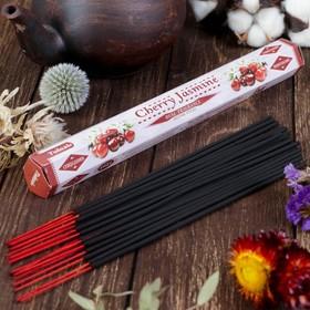 """Благовония Sarathi """"Cherry Jasmine. Вишня жасмин"""", 20 палочек в упаковке, шестигранник"""