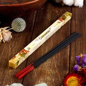 """Благовония Sarathi """"Cinnamon. Корица """", 8 палочек в упаковке, четырёхгранник"""