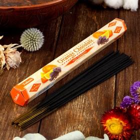 """Благовония Sarathi """"Orange Chocolate. Апельсин шоколад"""", 20 палочек в упаковке, шестигранник"""