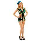 Комплект военного женский, топ на завязках, шорты, берет, р-р S