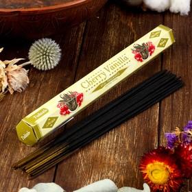"""Благовония Sarathi """"Cherry Vanilla. Вишня ваниль"""", 20 палочек в упаковке, шестигранник"""