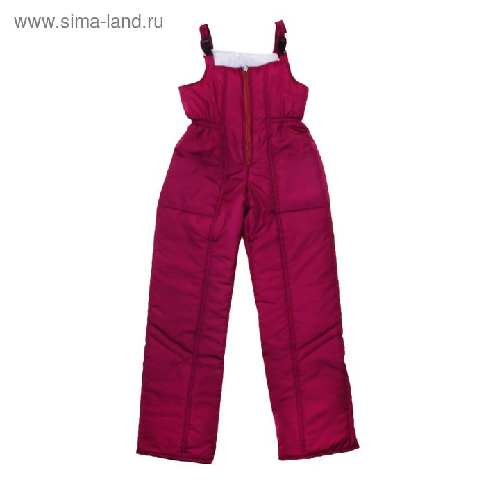 Полукомбинезон для девочки, рост 134 см, цвет бордо_ПК 02-28