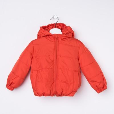 Куртка для девочки балон, рост 92 см, цвет красный_КУД 02-31