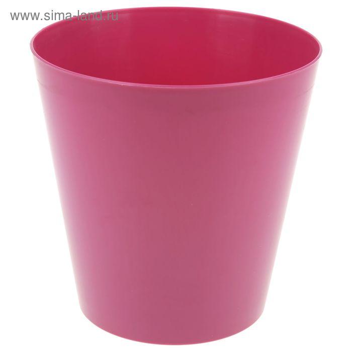"""Кашпо 2,5 л """"Вулкано"""", цвет розовый"""