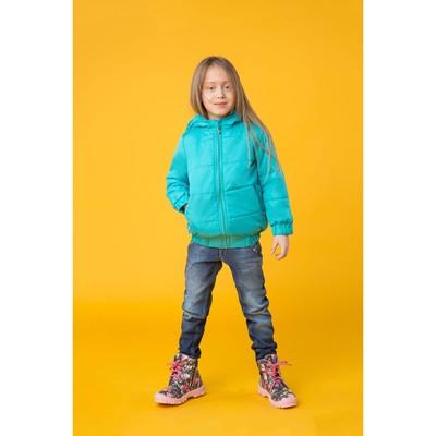 Куртка для девочки на резинке, рост 104 см, цвет бирюза_КУД 03-32