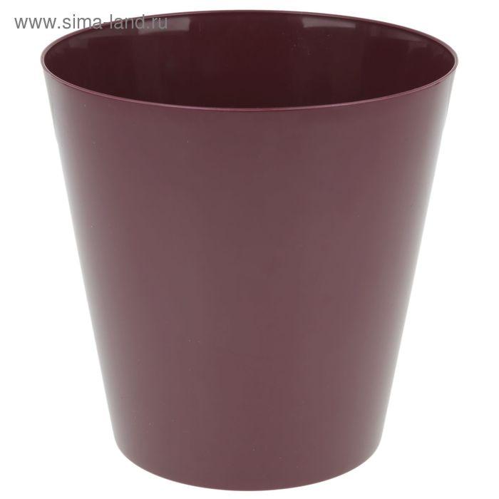 """Кашпо 19 см """"Вулкано"""", цвет вишневый"""