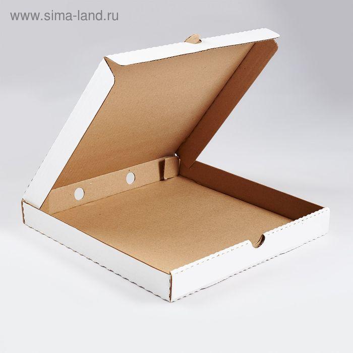 Коробка для пиццы 35 х 35 х 4 см, С3 белый с печатью