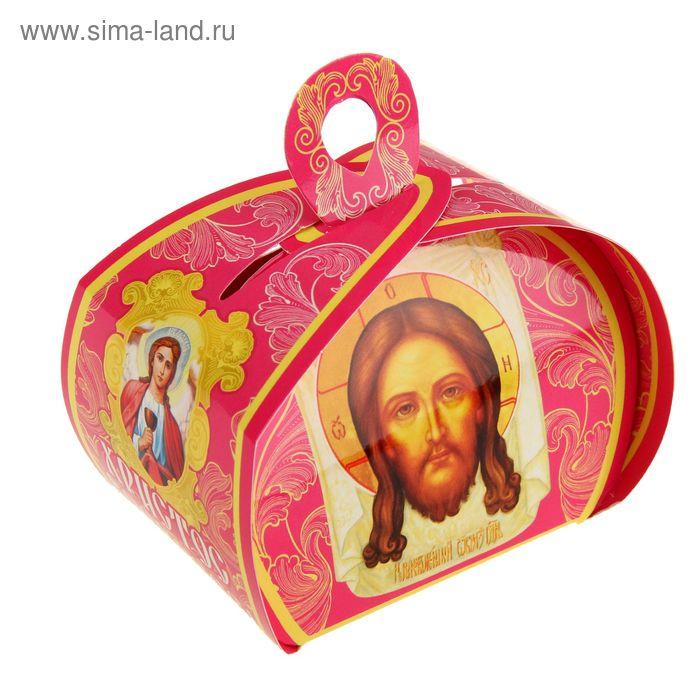 """Подарочная коробочка """"Христос воскресе! СО СВЯТОЙ ПАСХОЙ!"""" красная"""