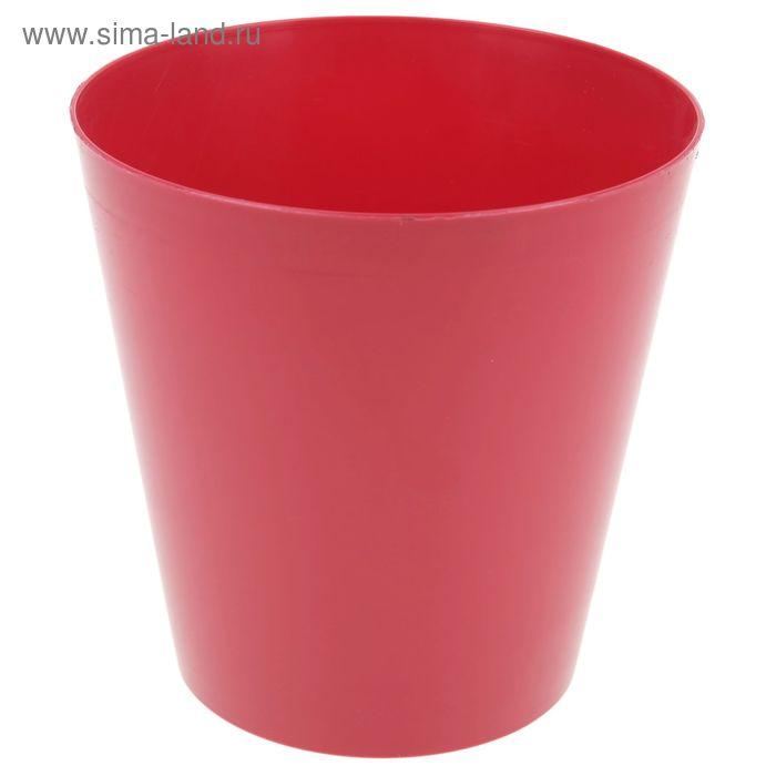 """Кашпо 3,5 л """"Вулкано"""", цвет ягодный"""