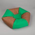 Лежанка-антистресс двухцветная, 48 х 48 х 15 см, микс цветов