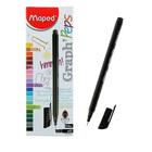 Ручка капиллярная Graph Pep'S черная, узел 0.4мм, эргономичная зона обхвата