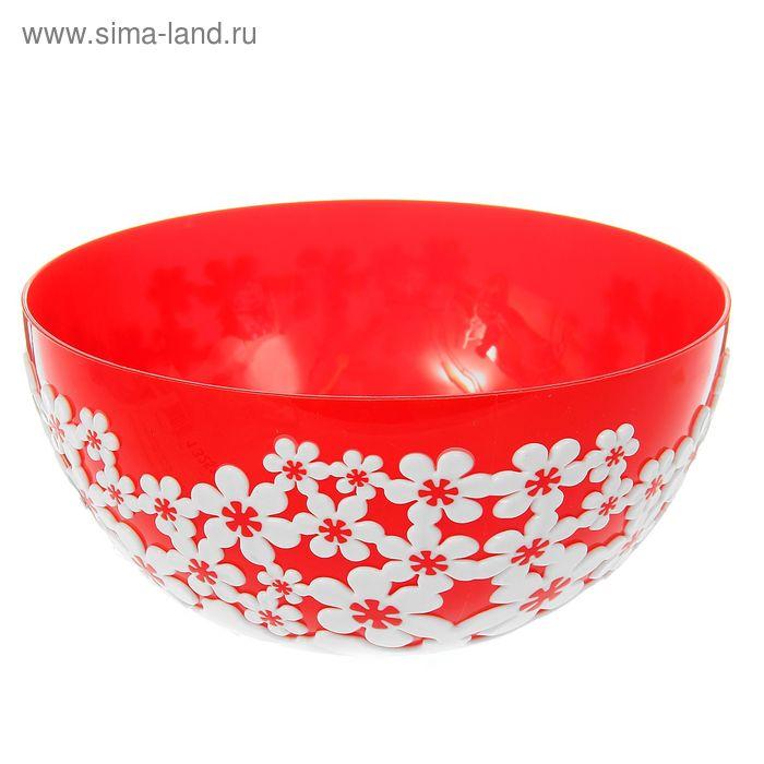 """Салатник 1,2 л """"Дольче Вита"""", цвет красный"""