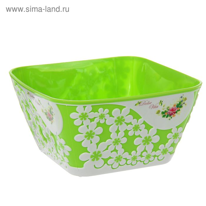 """Салатник 2 л """"Дольче Вита"""", цвет салатовый"""