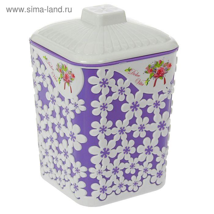 """Банка 1 л с крышкой """"Дольче Вита"""", цвет фиолетовый"""