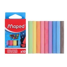 Мелки цветные Maped Color'Peps, в наборе 10 штук, круглые, специальная формула «без грязи»