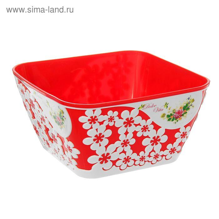 """Салатник 1,5 л """"Дольче Вита"""", цвет красный"""
