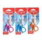 Ножницы детские 13 см, Zenoa Fit, обрезиненные ручки, система «антишок», асимметричные, декоративное покрытие, МИКС