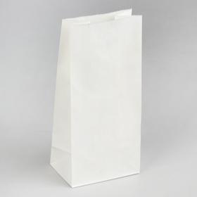 Пакет бумажный фасовочный, прямоугольное дно, 12 х 8 х 25 см Ош