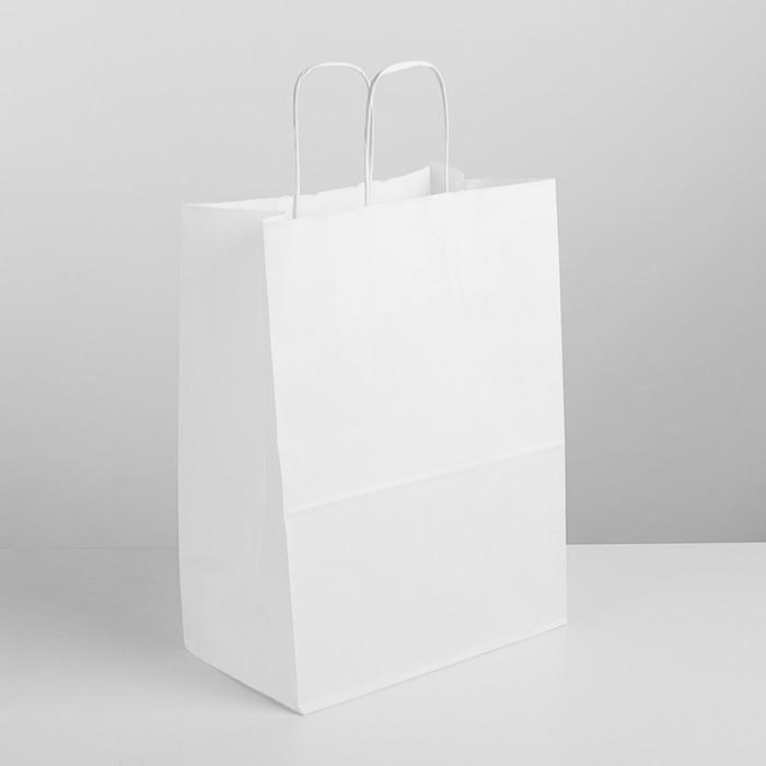 Пакет крафт без печати 26 х 15 х 35 см