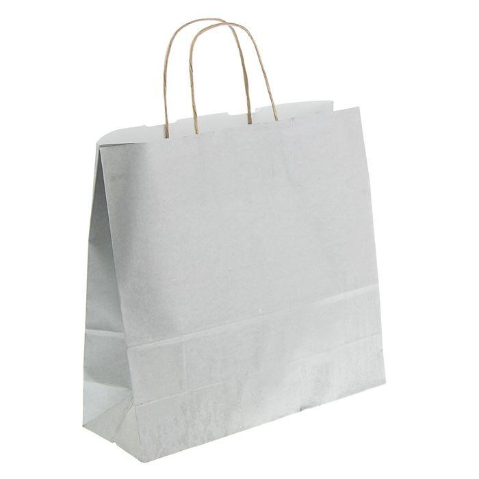 """Пакет крафт """"Радуга"""" серебро, 32 х 12 х 32 см"""