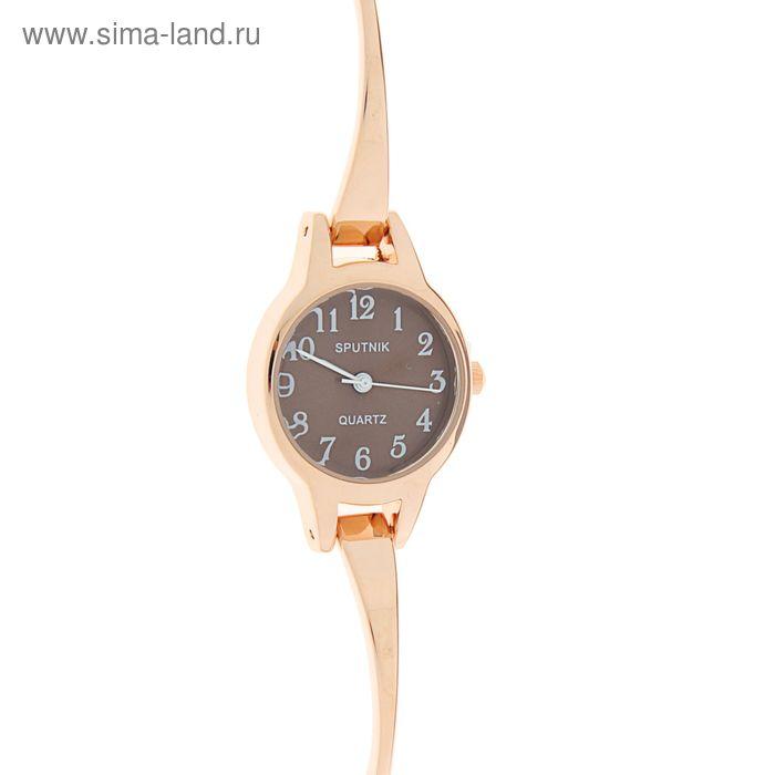 """Часы наручные женские """"Спутник"""",  коричнев циферблат"""