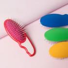 Расчёска-мини массажная, цвет МИКС, 1-О-АИ