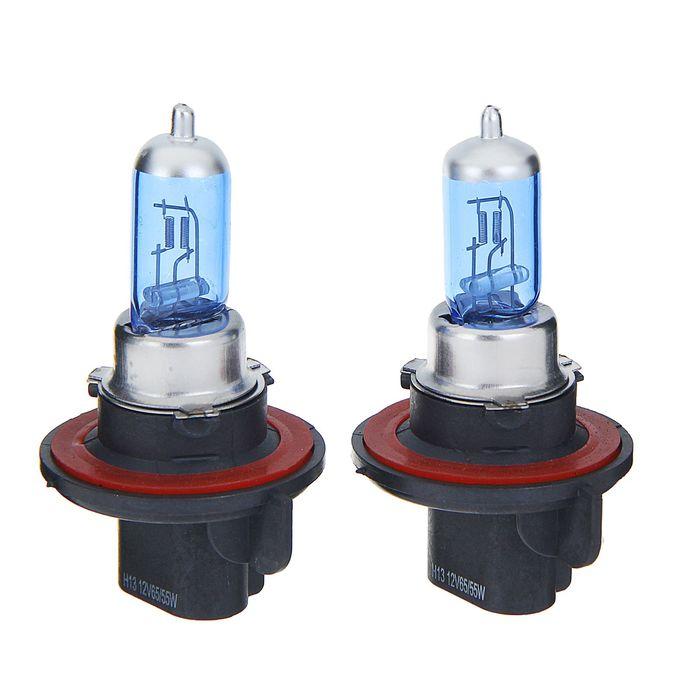 Комплект галогенных ламп TORSO H13, 4200 K, 12 В, 65/55 Вт, 2 шт., SUPER WHITE