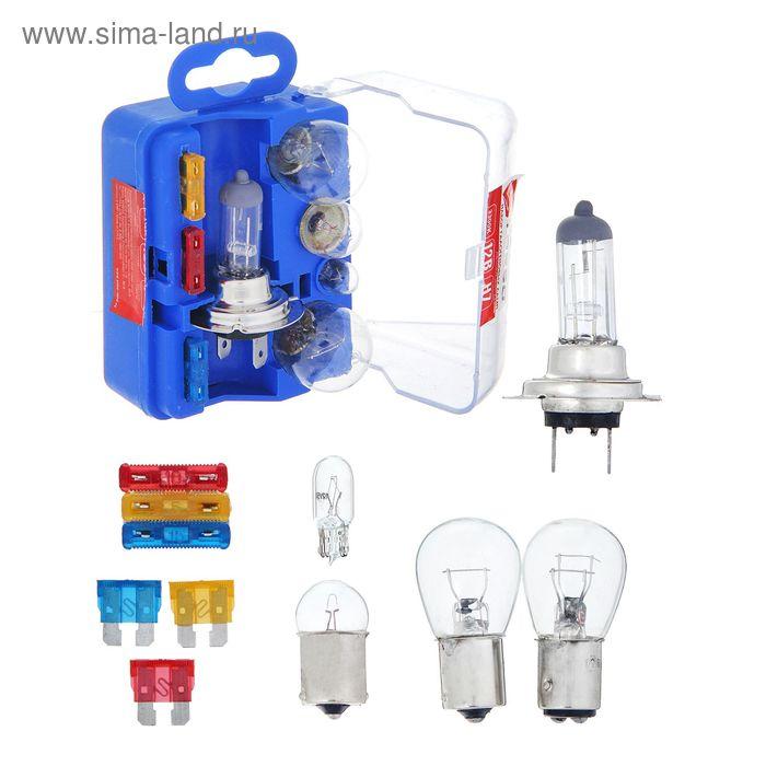 Набор ламп TORSO: Н7, P21/5W, P21W, W5W, R5W + 3 флажковых предохранителя
