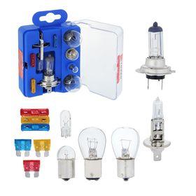 Набор ламп TORSO: Н1, Н7, P21/5W, P21W, W5W, R5W + 3 флажковых предохранителя