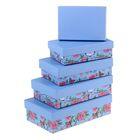 """Набор коробок 5в1 """"Бабочки"""", 20,5 х 13 х 6 - 13 х 9 х 4 см"""
