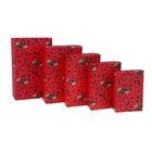 """Набор коробок 5в1 """"Розы"""", 20,5 х 13 х 6 - 13 х 9 х 4 см"""