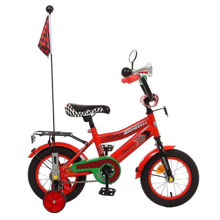 """Велосипед 12"""" GRAFFITI Premium Racer, 2016, цвет красный"""