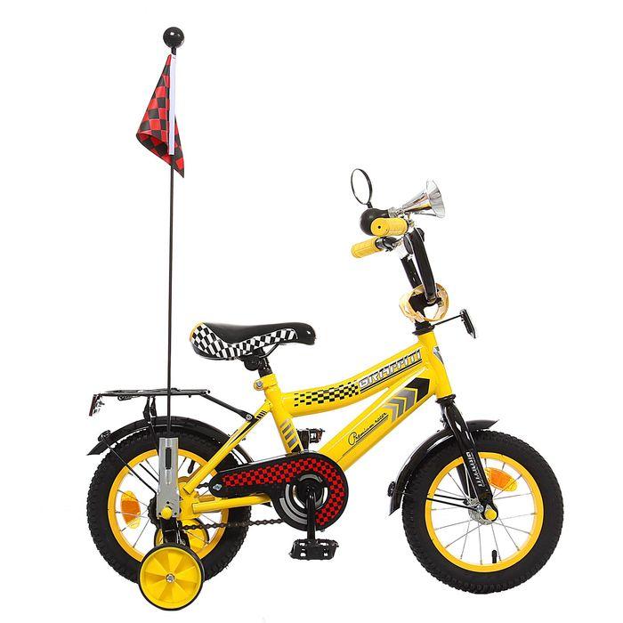 """Велосипед 12"""" GRAFFITI Premium Racer, 2016, цвет жёлтый"""